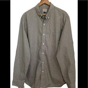 J. Crew Classic Fit Checked Button Down Shirt - XL